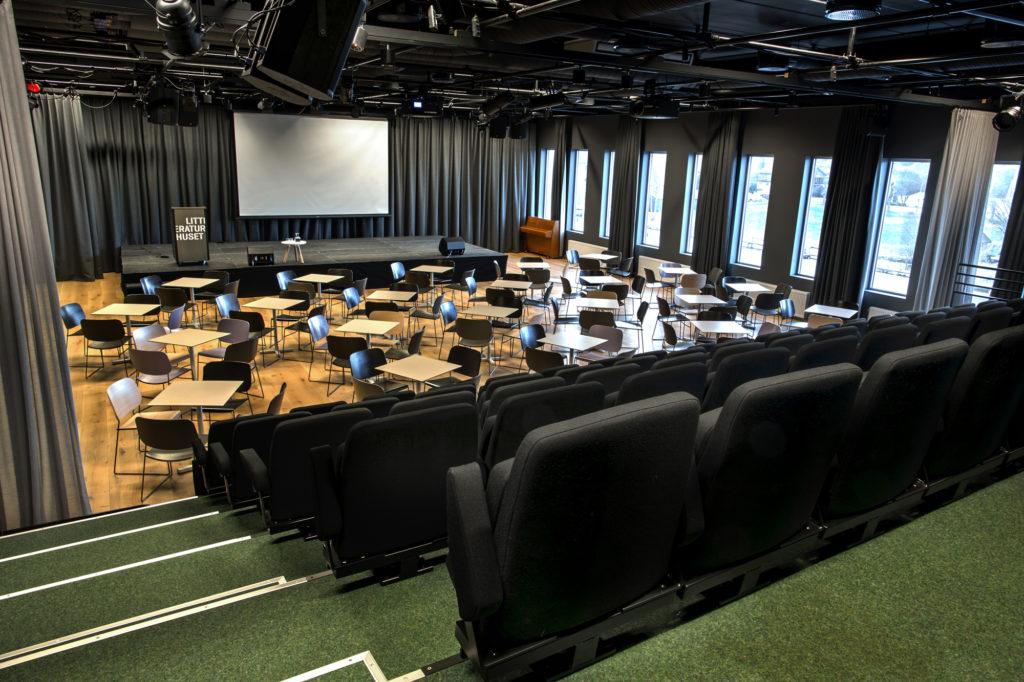 Vår største sal rommer 320 mennesker og heter Egalia