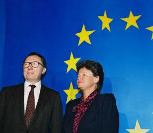 Gro Harlem Brundtland og Jacques Delors